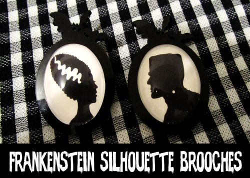 Frankenstein brooches