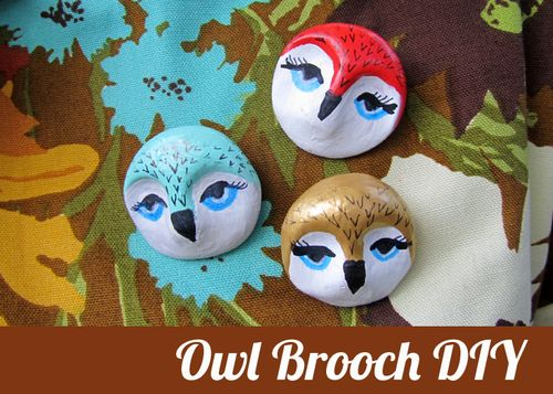Owl brooch diy